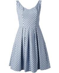 Light Blue Polka Dot Casual Dress