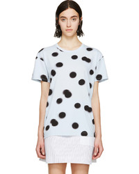 Blue blurred dot t shirt medium 213017