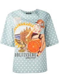 Dolce gabbana pin up girl print t shirt medium 197331