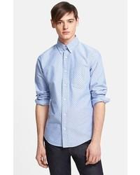 Jack Spade Taylor Dot Woven Oxford Sport Shirt Blue Small
