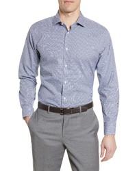 Nordstrom Men's Shop Trim Fit Non Iron Check Dress Shirt