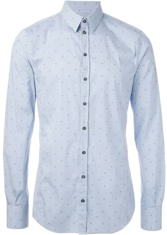 Light Blue Polka Dot Shirt Polka Dot Shirt