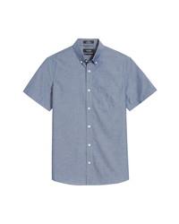 Nordstrom Men's Shop Trim Fit Short Sleeve Non Iron Button Up Shirt