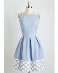 Light Blue Polka Dot Skater Dress