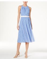 Polka dot belted a line dress medium 3650562