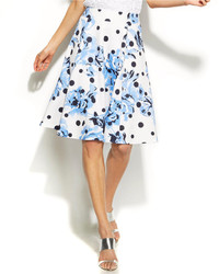 Mixed print a line skirt medium 196880