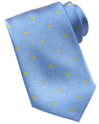 Polka dot silk tie bluegreen medium 55013