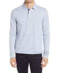 Vince Long Sleeve Stripe Polo Shirt