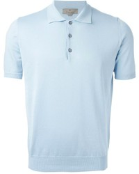 Canali Knitted Polo Shirt