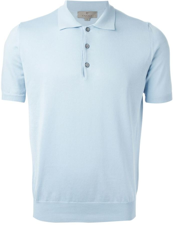 Canali Knitted Polo Shirt 7098d3c444b5