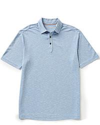 Caribbean Short Sleeve Soild Slub Polo