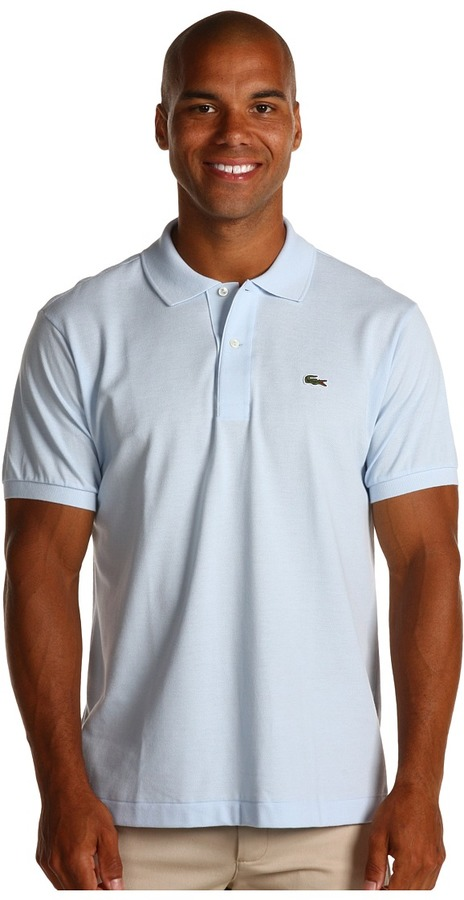 26c5be983 ... Light Blue Polos Lacoste L1212 Classic Pique Polo Shirt Short Sleeve  Knit ...