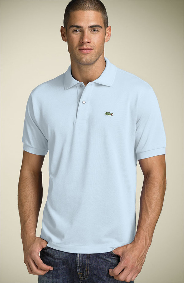 3a0a9c920 ... Light Blue Polos Lacoste L1212 Pique Polo ...