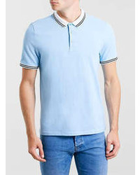 Topman Light Blue Barlow Polo Shirt