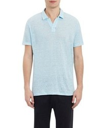 Vince Linen Short Sleeve Polo Shirt