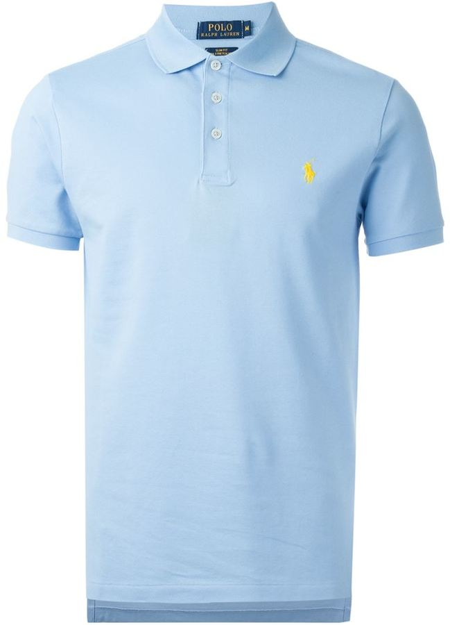 1860d3b89 Polo Ralph Lauren Embroidered Logo Polo Shirt, $90   farfetch.com ...