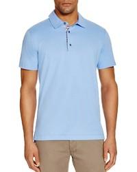 Robert Graham Stoked Stripe Placket Slim Fit Polo Shirt 100%