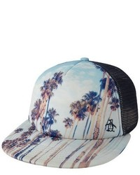 Original Penguin Printed Scene Snapback Trucker Hat