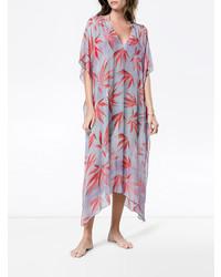 A Peace Treaty Leaf Print Beach Dress