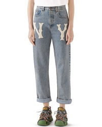 Gucci Ny Patch Boyfriend Jeans