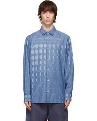 Loewe Blue Paulas Ibiza Chambray Moon Calendar Shirt
