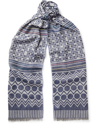 Paul Smith Fringed Printed Voile Scarf