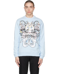 Burberry Blue Montage Print Sweater