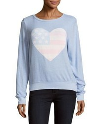 Wildfox Couture Heart Print Pullover
