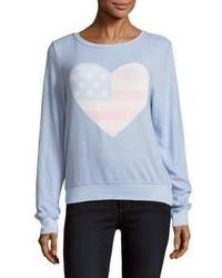 Heart print pullover medium 5422786