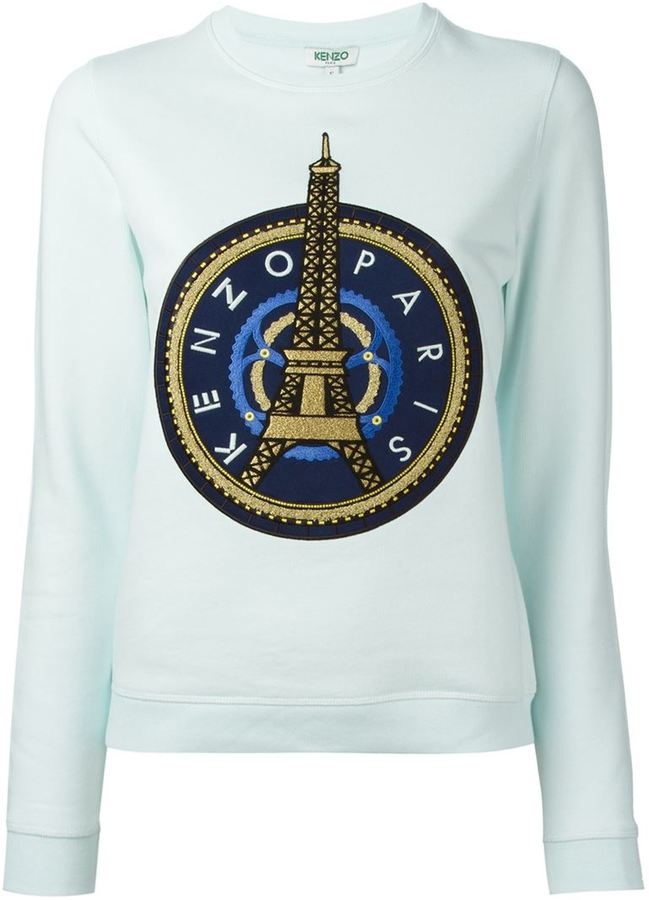 b4753d68 Kenzo Eiffel Tower Sweatshirt, $425 | farfetch.com | Lookastic.com