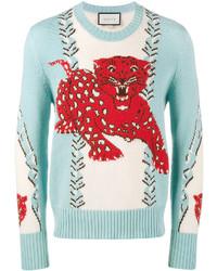 Gucci Leopard Intarsia Sweater