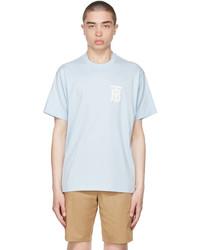 Burberry Blue Cotton Oversized Tb T Shirt