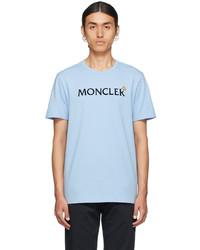 Moncler Blue Lettering T Shirt