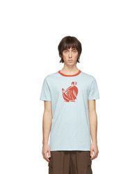 Lanvin Blue Mother And Daughter T Shirt