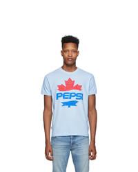 DSQUARED2 Blue Pepsi Edition Dan Fit T Shirt