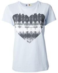 MSGM Heart Print T Shirt