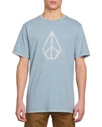 c2dc84b18 Men's Light Blue Print Crew-neck T-shirts by Volcom | Men's Fashion ...