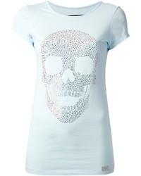 Philipp Plein Embellished Skull Print T Shirt