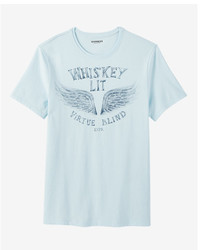 Whiskey lit crew neck graphic tee medium 5026706