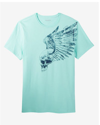 Winged skull crew neck graphic tee medium 5026705