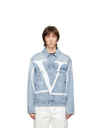 Valentino Blue Denim Vlogo Jacket