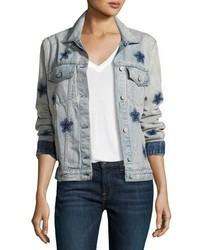 Rails Knox Star Print Denim Jacket Blue