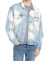 Ksubi Smash Print Bleached Oversize Denim Jacket