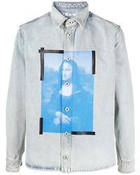 Off-White Blue Monalisa Denim Shirt Bleach White