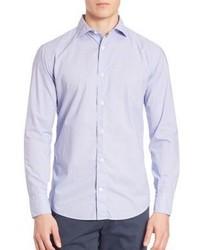 Light Blue Print Dress Shirt