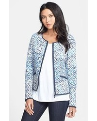 Light Blue Print Jacket