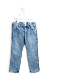 Armani Junior Heart Print Jeans