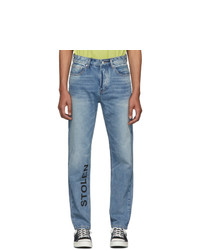 Stolen Girlfriends Club Blue Smith Stamp Jeans