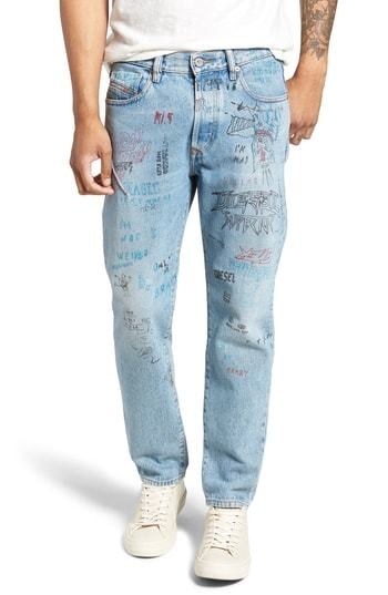 112c2777 Diesel Mharky Slim Straight Leg Jeans, $208 | Nordstrom | Lookastic.com