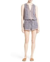 Light Blue Print Jumpsuit